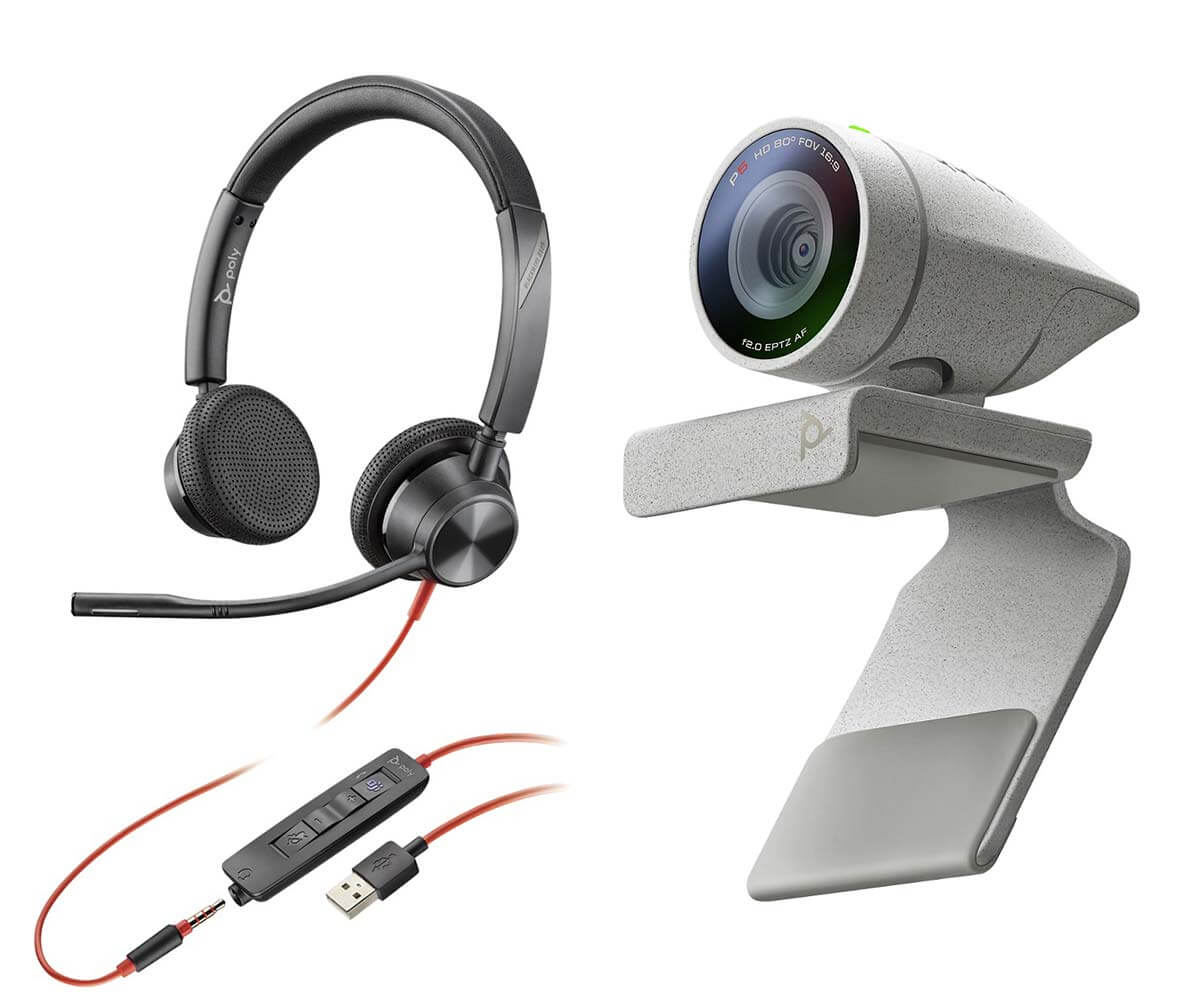 POLY Studio P5 Webcam With Blackwire 3325 Headset